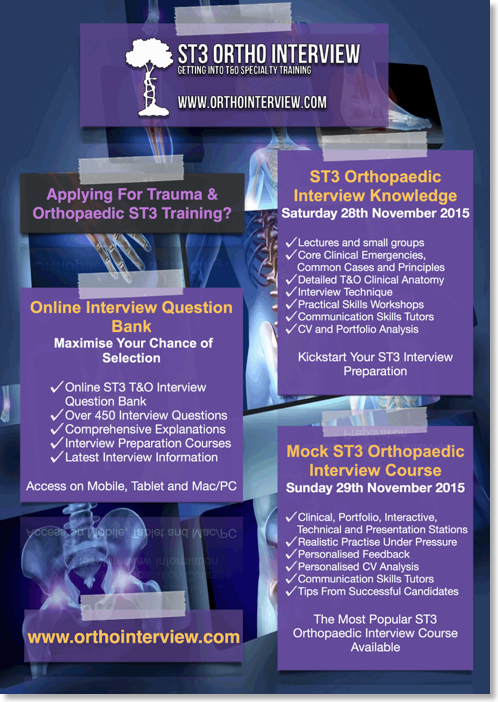 st3 trauma and orthopaedic interview course weekend fully